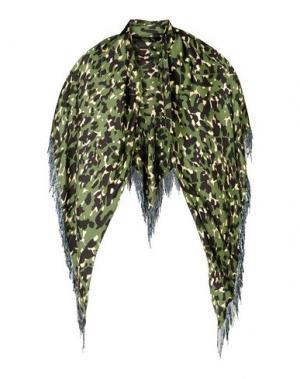 Шаль PROVA. Цвет: зеленый-милитари