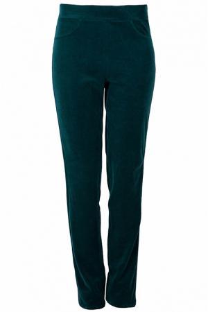 Прямые брюки с высокой посадкой Elisa Fanti. Цвет: зеленый