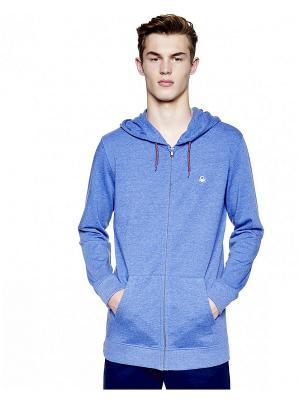 Толстовка United Colors of Benetton. Цвет: голубой, серо-голубой