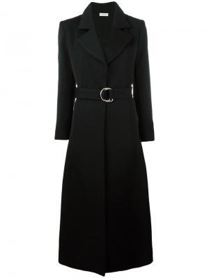 Пальто с поясом Veronique Leroy. Цвет: чёрный