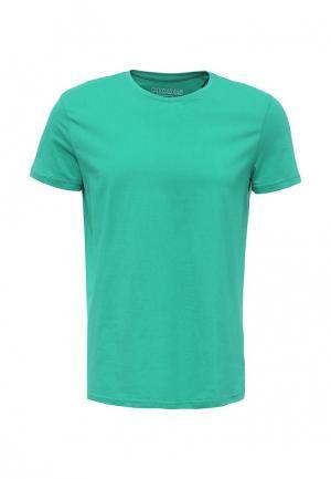 Футболка Modis. Цвет: зеленый