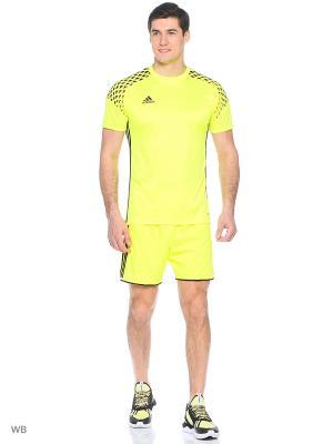 Спортивные шорты Adidas. Цвет: желтый, черный
