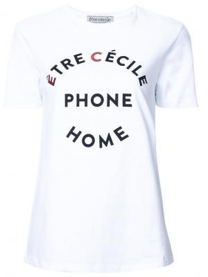 Футболка EC Phone Home Être Cécile. Цвет: белый