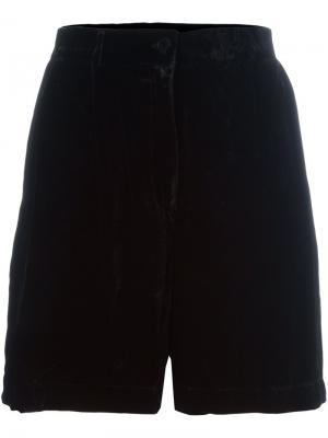 Бархатные шорты Mes Demoiselles. Цвет: чёрный