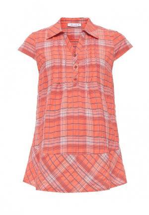 Блуза MammySize. Цвет: оранжевый