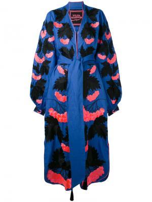 Платье Kalyna Yuliya Magdych. Цвет: синий