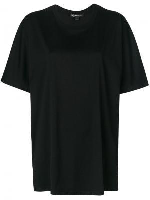 Logo back oversized T-shirt Y-3. Цвет: чёрный