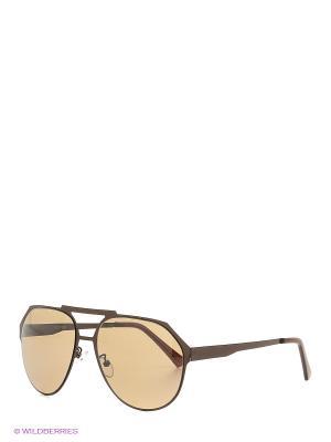 Солнцезащитные очки Mascotte. Цвет: коричневый