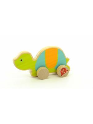 Каталка Черепаха LUCY&LEO. Цвет: желтый