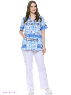 Блузка Med Fashion Lab. Цвет: голубой