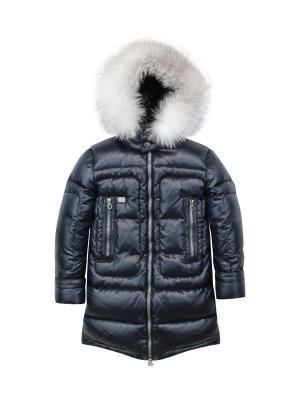 Пальто Pulka. Цвет: синий