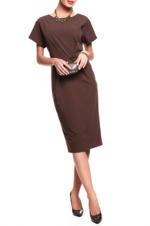 Платье Disetta. Цвет: коричневый