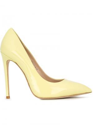 Туфли на шпильках с заостренным носком Gianni Renzi. Цвет: жёлтый и оранжевый