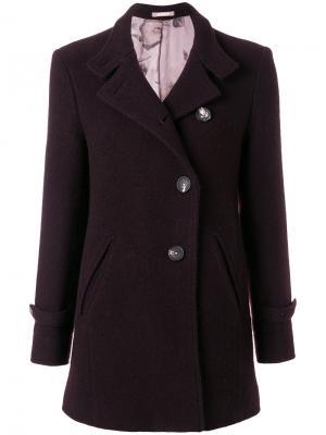 Приталенное пальто на пуговицах Massimo Alba. Цвет: красный