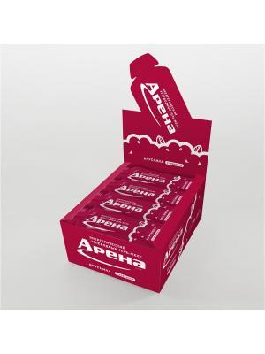 Углеводный гель Арена Первая с кофеином, со вкусом брусники, 24 штуки в упаковке. Цвет: желтый