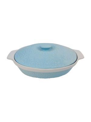Форма для запекания керамика 23,5*29,5*7,5 см, 2,2 л Peterhof. Цвет: голубой