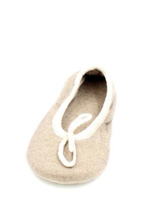 Носки-тапочки HOBBY LINE. Цвет: бежевый, кремовый