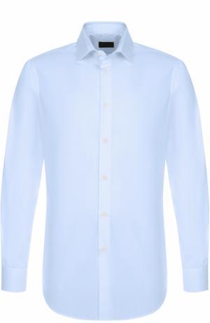Хлопковая сорочка с воротником кент Lanvin. Цвет: голубой
