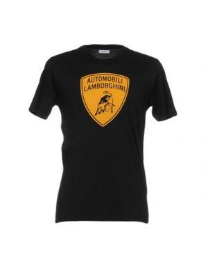 Футболка AUTOMOBILI LAMBORGHINI. Цвет: черный