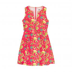 Платье без рукавов с цветочным рисунком MOLLY BRACKEN. Цвет: наб. рисунок красный