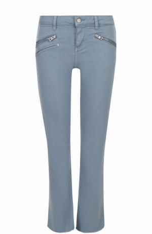 Однотонные джинсы прямого кроя Zadig&Voltaire. Цвет: голубой