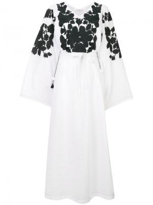 Декорированное платье-кимоно Vita Kin. Цвет: белый