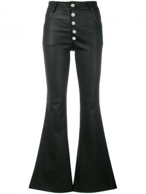 Укороченные брюки клеш Each X Other. Цвет: чёрный