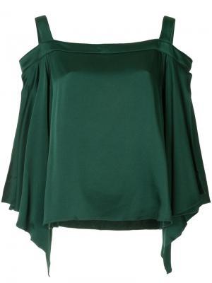 Блузка с открытыми плечами Ingie Paris. Цвет: зелёный