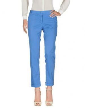 Повседневные брюки MONOCROM. Цвет: лазурный