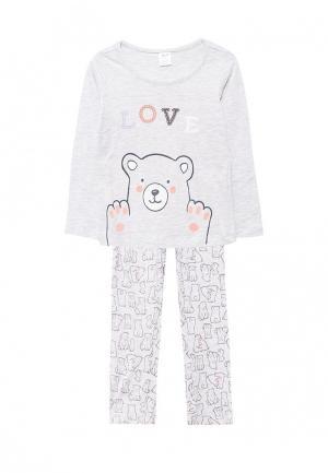 Пижама Sela. Цвет: серый
