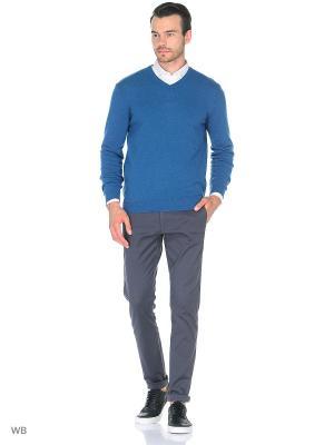 Пуловер United Colors of Benetton. Цвет: синий, белый, голубой