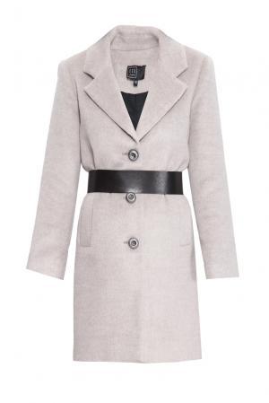 Пальто с ремнем 160420 Access. Цвет: бежевый
