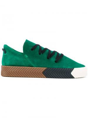Кеды Skate Adidas Originals By Alexander Wang. Цвет: зелёный