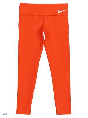 Леггинсы G NK PWR TGHT LEGEND FOLDOVER Nike. Цвет: оранжевый