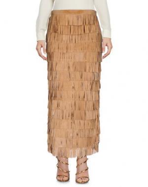 Длинная юбка CABAN ROMANTIC. Цвет: песочный