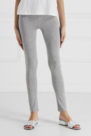 Комбинированные брюки Princesse Tam-Tam. Цвет: серый