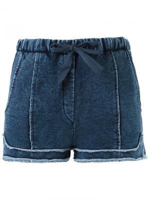 Джинсовые шорты Giuliana Romanno. Цвет: синий