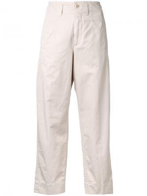 Укороченные прямые брюки Closed. Цвет: телесный