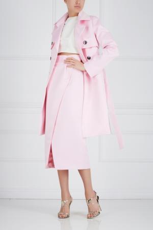 Шелковый тренч Ester Abner. Цвет: розовый