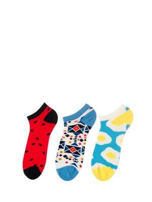 Носки Sammy Icon. Цвет: голубой, белый, желтый