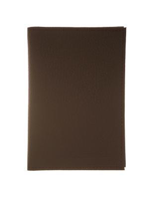 Обложка для паспорта и документов коричневая Tina Bolotina. Цвет: коричневый