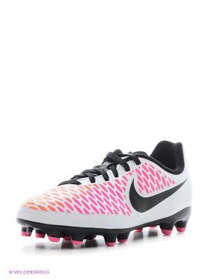 Бутсы JR MAGISTA ONDA FG Nike. Цвет: белый, розовый