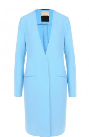 Однотонное пальто прямого кроя By Malene Birger. Цвет: голубой