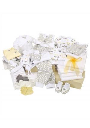 Комплект для новорожденного, 42 части KLITZEKLEIN. Цвет: белый/серый
