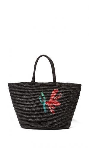 Большая объемная сумка с короткими ручками и цветочным рисунком Sensi Studio
