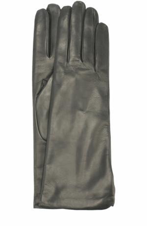 Кожаные перчатки Sermoneta Gloves. Цвет: темно-серый