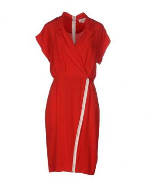Платье до колена BAND OF OUTSIDERS. Цвет: красный