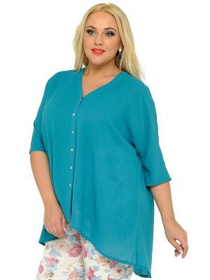 Блузка SVESTA. Цвет: бирюзовый