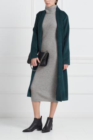 Платье из шерсти мериноса с кашемиром Mixer. Цвет: светло-серый