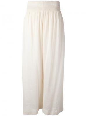 Широкие брюки Forte. Цвет: телесный